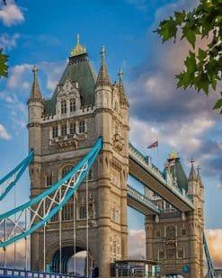 Tower Bridge Of United Kingdom paint by numbers