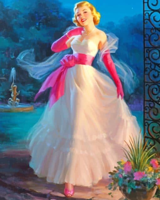 Vintage Bride paint by numbers