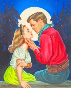 Vintage Lovers paint by numbers