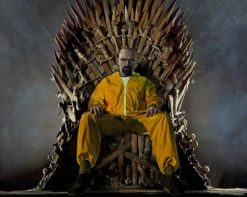 Walter White sitting On The Iron Throne paint by number