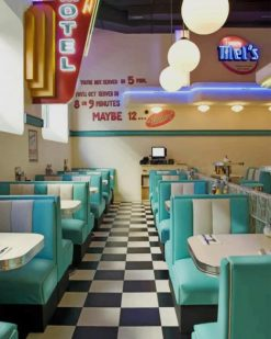 Aesthetic Retro Cafe paint by numbers