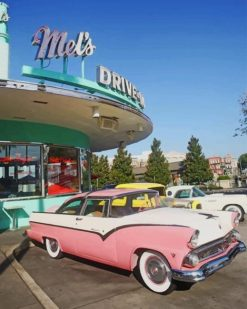 Aesthetic Retro Cars paint by numbers