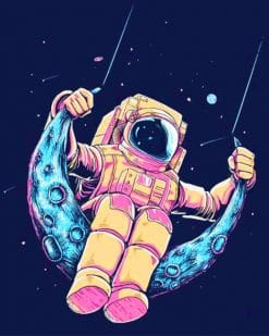 Astronauts In Moon Swing painnt by numbers
