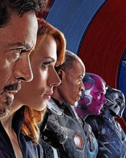 Avengers Team paint by numbers
