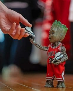 Baby Groot Jordan paint by numbers