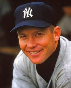 Baseball Player Mickey Mantle Paintby numbers