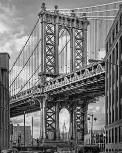 Black And White Brooklyn Bridge paint by numbers