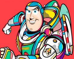 Buzz Lightyear Pop Art paint by numbers
