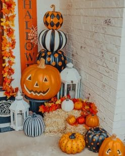 Halloween Outdoor Decor paint by numbers