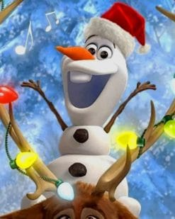Olaf And Sven Christmas paint by numbers