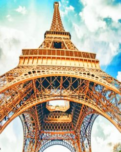 Paris Eiffel Tower paint by numbers