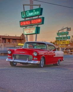 Retro Vintage Car paint by numbers