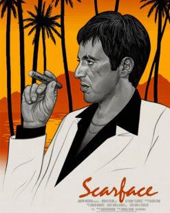 Scarface Art Poster paint by numbers