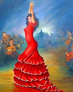 Spanish Flamenco Dancer paint by numbers