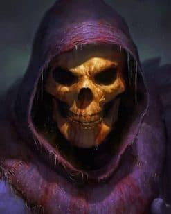 Supervillain Skeletor paint by number