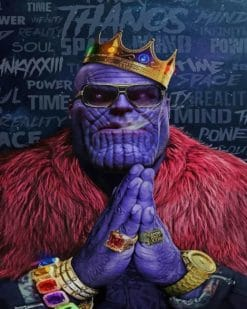 Thanos King paint by numbers