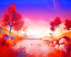 Autumn Scenery paint by numbers