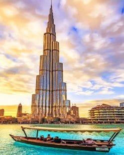 Burj Khalifa Park paint by numbers