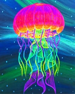 Colorful Jellyfish paint by numbers