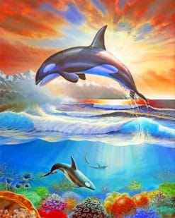 Jumping Orca paint by numbers