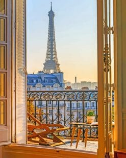 Paris Morning paint by numbers