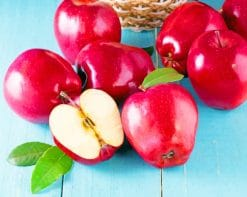 Red Apples Fruit paint by numbers