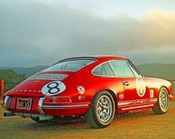 Red Porsche 911 paint by numbers