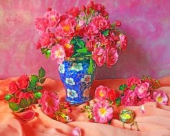 Rose Flowers Vase paint by numbers
