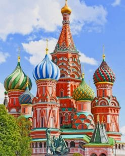 St. Basil's Cathedral paint by numbers