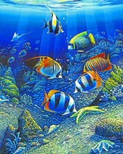 Tropical Fishes paint by numbers
