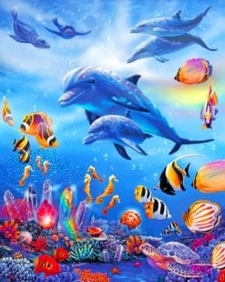 Underwater World paint by numbers
