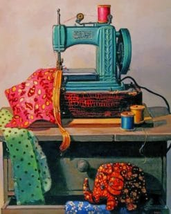 Aesthetic Sewing Machine Paint by numbers