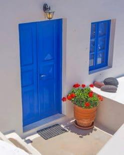 Blue Door Paint by numbers