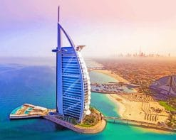 Burj Al Arab United Arab Emirates paint by numbers