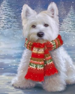 Christmas Puppy Paint by numbers