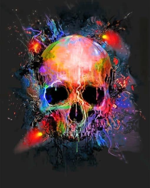 Splatter Skull Paint by numbers