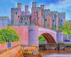 Conwy Castle Wales paint by numbers