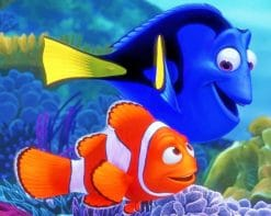 Finding Nemo Fish paint by numbers