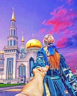 Follow Me To Moscow Cathedral MosqueFollow Me To Moscow Cathedral Mosque Paint by numbers