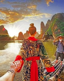 Follow Me To China Paint by numbers