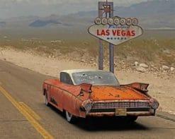 Las Vegas Road paint by numbers