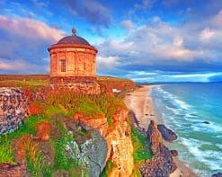 Mussenden Temple Northern Ireland paint by numbers