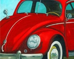 Red Car Paint by numbers