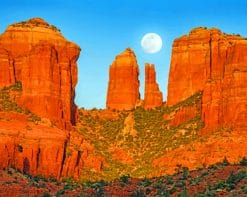 Red Rocks Sedona paint by numbers