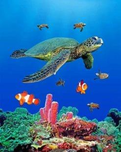 Sea Turtles paint by numbers
