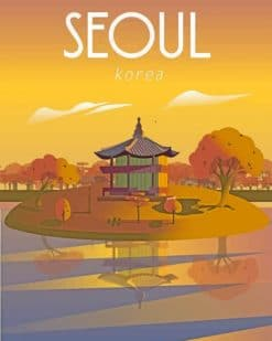 Seoul Illustration Paint by numbers