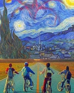 Stranger Starry Night Paint by numbers