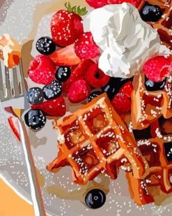 Tasty Waffles paint by numbers