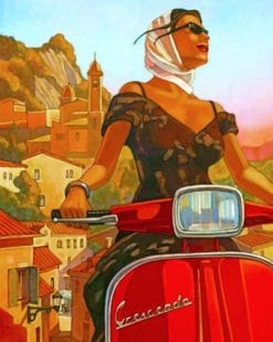 Vespa Girl paint by numbers