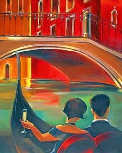 Vintage Couple In Italy paint by numbers